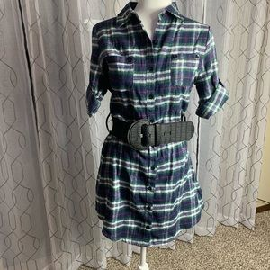 Chuangke Flannel Shirt Dress/Tunic Large